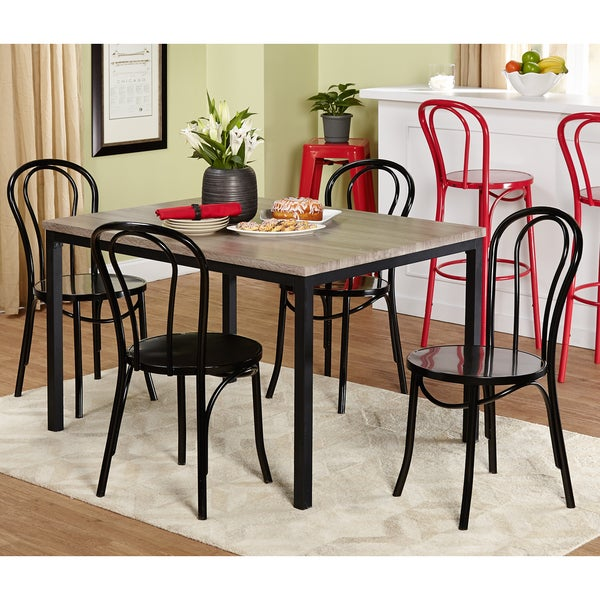 Simple Living Black And White Dining Set 3 Piece: Shop Simple Living Vintage Inspire Black/ Grey 5-piece