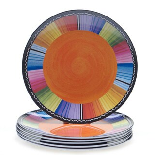 Certified International Serape 9-inch Melamine Salad Plates (Set of 6)