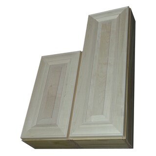 Andrew Series 29 and 34-inch Double Offset On the Wall Cabinet 7.25-inch Deep Left Hand - Natural