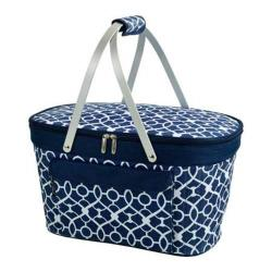 Picnic at Ascot Collapsible Insulated Basket Trellis Blue