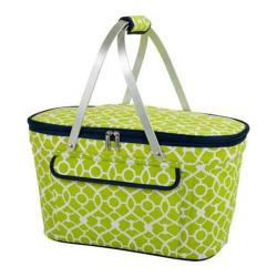 Picnic at Ascot Collapsible Insulated Basket Trellis Green