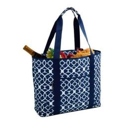 Picnic at Ascot Extra Large Insulated Tote Trellis Blue