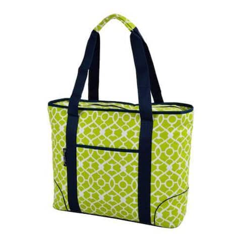 Picnic at Ascot Extra Large Insulated Tote Trellis Green