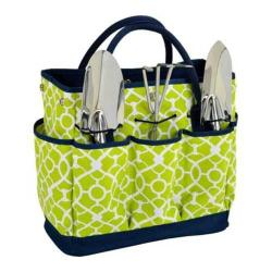 Picnic at Ascot Gardening Tote Set Trellis Green