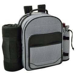 Picnic at Ascot Houndstooth Picnic Backpack for Two with Blanket Houndstooth