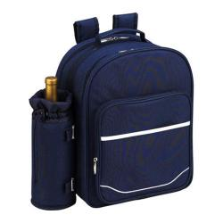 Picnic at Ascot Picnic Backpack for Four Trellis Blue
