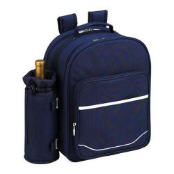 Picnic at Ascot Picnic Backpack for Two Trellis Blue