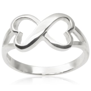 Journee Collection Sterling Silver Infinity Heart Ring