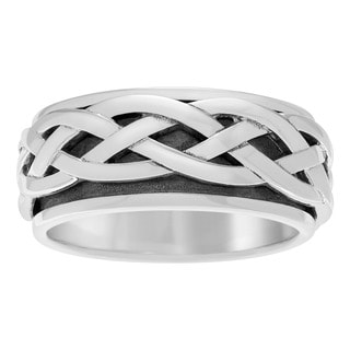 Sterling Silver Celtic Spinner Ring Band