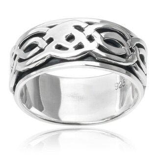 Vance Co. Sterling Silver Celtic Spinner Band