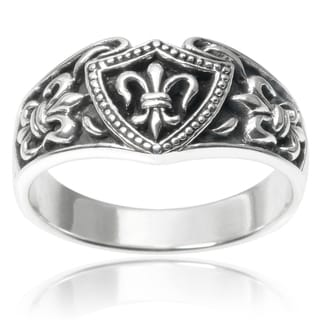 Vance Co. Sterling Silver Fleur-de-lis Ring
