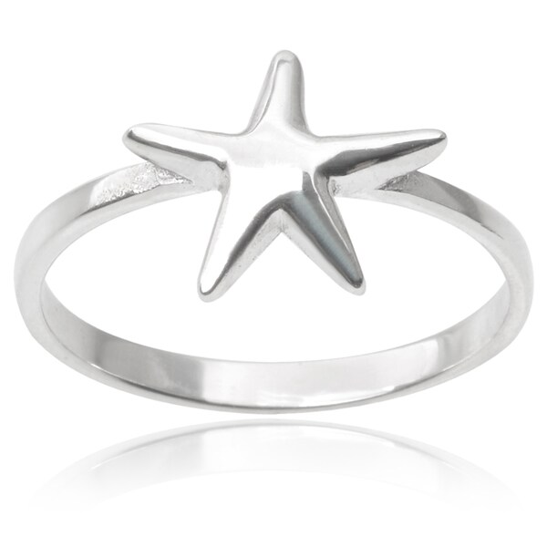 Journee Collection Sterling Silver Starfish Ring
