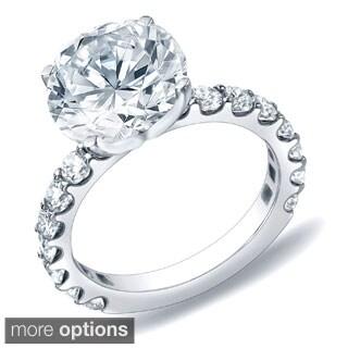 Auriya 14k Gold 2 1/2ct TDW Certified Round Diamond Engagement Ring (H-I, SI1-SI2)