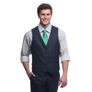 Kenneth Cole Reaction Men's Slim Fit Ink Blue Suit Separates Vest