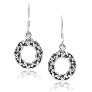 Journee Collection Sterling Silver Celtic Drop Earrings
