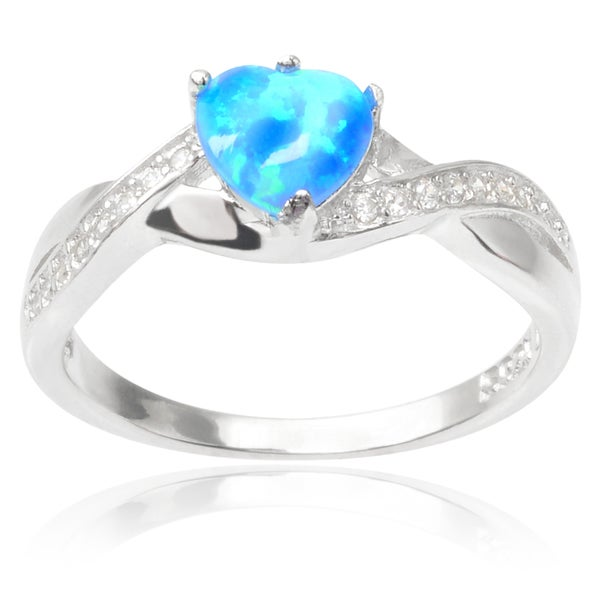 Journee Collection Sterling Silver Opal Ring