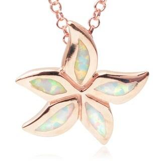 Journee Collection Sterling Silver Gemstone Flower Pendant