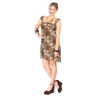 1 World Sarongs Women's Animal Print Knee-length Dress (Indonesia)