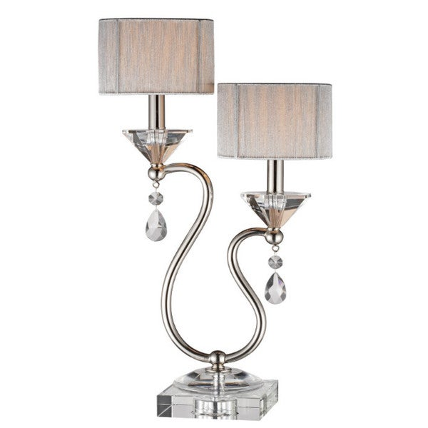 Silver Orchid Holden Double light Accent Lamp