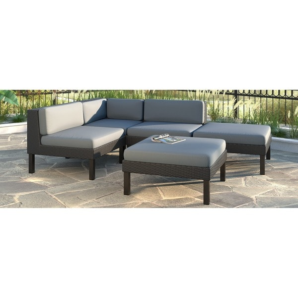 Corliving oakland 5 piece sectional with chaise lounge for 5 piece sectional sofa with chaise