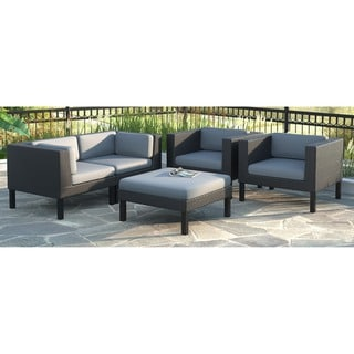 CorLiving Oakland 5-piece Sofa and Chair Patio Set