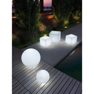 Small Multicolor Sphere Lumen Stool