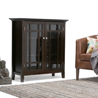 WYNDENHALL Freemont Dark Tobacco Brown Medium Storage Media Cabinet/ Buffet
