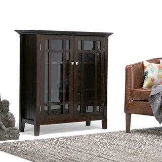 "WYNDENHALL Freemont Dark Tobacco Brown Medium Storage Media Cabinet/ Buffet - 42.2""h x 37""w x 19""d"