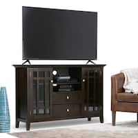 WYNDENHALL Freemont Collection Dark Tobacco Brown Tall TV Stand for TV's up to 60 Inches