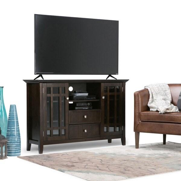 Shop Wyndenhall Freemont Collection Dark Tobacco Brown Tall Tv Stand
