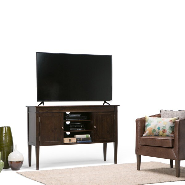 Shop Wyndenhall Sterling Tall Tv Stand For Up To 60 Inch Tv S On