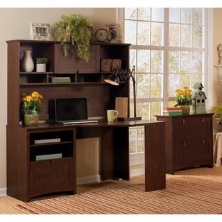 Buena Vista Corner Desk with 60-inch Hutch and Lateral File