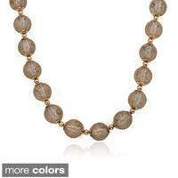 Riccova Mesh Over Lucite Ball Necklace