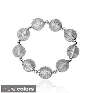 Riccova Mesh Over Lucite Ball Bracelet https://ak1.ostkcdn.com/images/products/9075568/Riccova-Mesh-Over-Lucite-Ball-Bracelet-P16267482.jpg?impolicy=medium