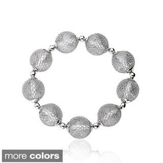 Riccova Mesh Over Lucite Ball Bracelet