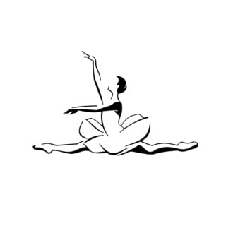 Ballet Dancing Decor Vinyl Wall Art