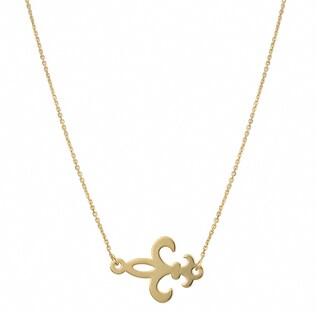 Fremada 14k Gold Over Sterling Silver Fleur De Lis Sideways Necklace