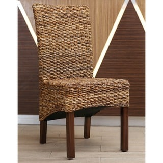 International Caravan Gaby Mahogany Dining Chair (Set of 2)