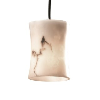 Justice Design Group LumenAria Single-light Hourglass Nickel Mini Pendant