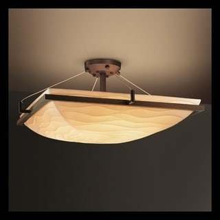 Justice Design Group Porcelina 6-light Waves with Dark Bronze Semi-flush