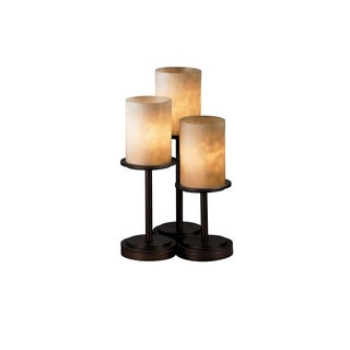Justice Design Group Clouds 3-light Dark Bronze Table Lamp