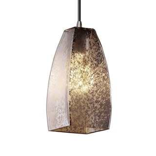 Justice Design Group Fusion 1-light Tapered Square Shade Small Nickel Pendant