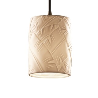 Justice Design Group Limoges Single-light Flat Rim Dark Bronze Mini Pendant