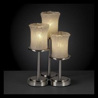 Justice Design Group Veneto Luce 3-light Nickel Table Lamp