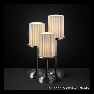 Justice Design Group Limoges 3-light Nickel Table Lamp