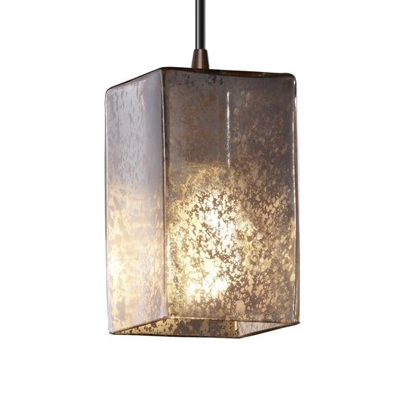 Justice Design Group Fusion 1-light Flat Rim Shade Small Dark Bronze Pendant