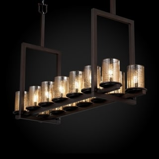 Justice Design Group Fusion 14-light Mercury with Dark Bronze Tall Chandelier