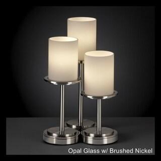 Justice Design Group Dakota 3 Light Nickel Table Lamp
