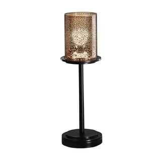 Justice Design Group Fusion 1-light Tall Matte Black Table Lamp