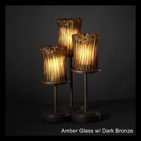 Justice Design Group Veneto Luce Dakota 3-light Dark Bronze Table Lamp